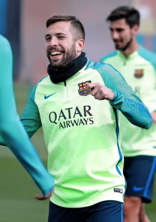 Jordi Alba during FC Barcelona training session 31/03/2017