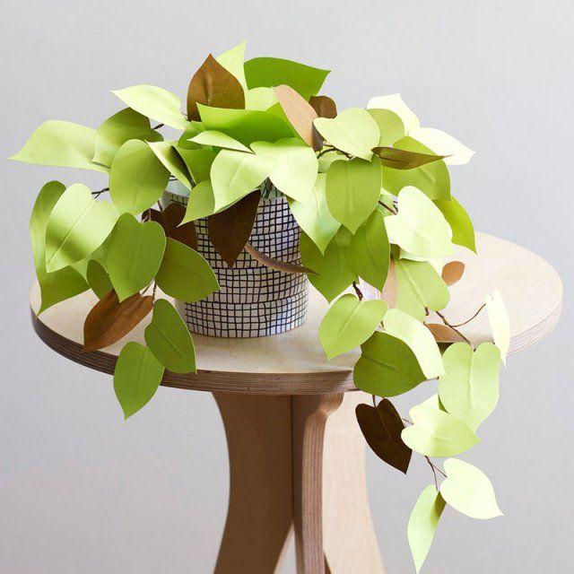 Philodendron en papier / DIY papier / Réaliser des plantes en papier / Paper plants