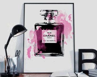 Illustration de mode impression de Chanel par worksbyannahammer