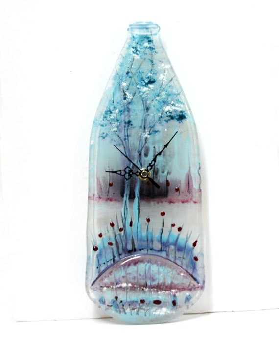 107 best fused glass clocks images on Pinterest Stained glass