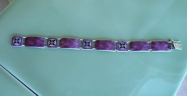 An Aksel Holmsen Norway silver bracelet
