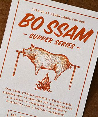 Bo Ssam supper series poster