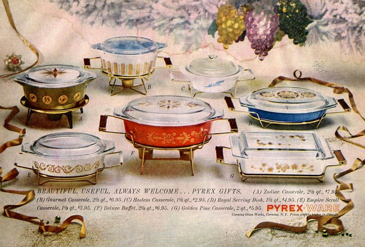 Vintage pyrex ad #kitchen...I just bought the blue one to the right today from my BFF's Grandma...THANKS Kortnie :)
