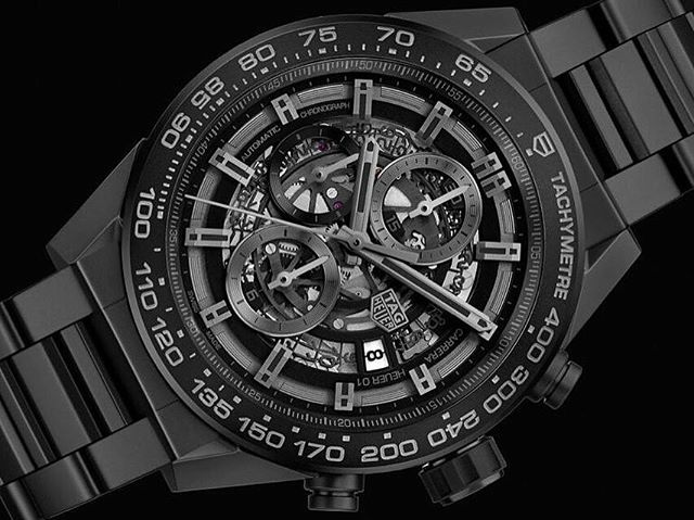 REPOST!!!  The Tag Heuer Carrera in Full Black #tagheuer #fullblack #tagheuercarrera #yachtmaster #super #ocean #superocean #rolex #breitling #chronomat #hublot #bigbang #big #bang #unico #chrono #calendar #rollie #perpetual #oyster #watchoftheday #wristporn #watchporn #watches #Baselworld2017 #WatchNo9  Photo Credit: Instagram ID @watchno9