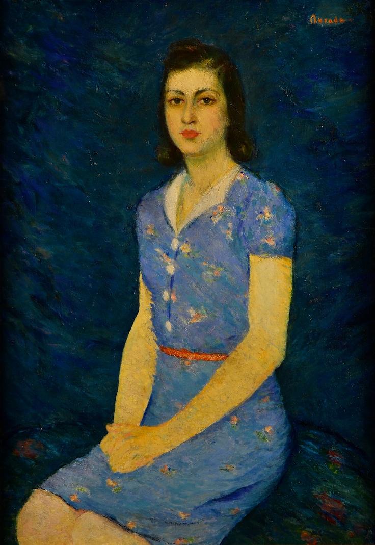 Sever (Buradescu) Burada (1896-1968) – TÂNĂRĂ CU ROCHIE ALBASTRĂ