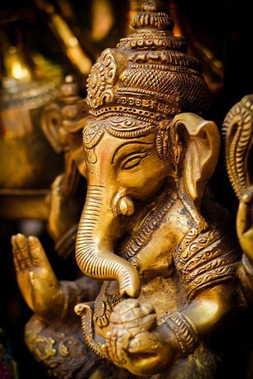 Ganesha mantras contain certain specific powers of Lord Ganesha. When chanted with the proper pranayama (rhythmic breathing) and sincere devotion, they will yield good results. Ganesha Mantra: Om Gam Ganapataye Namaha. Ganesha Gayatri Mantra: ॐ एकदन्ताय विद्धमहे, वक्रतुण्डाय धीमहि, तन्नो दन्ति प्रचोदयात्॥ Aum Ekadantaya Viddhamahe, Vakratundaya Dhimahi, Tanno Danti Prachodayat