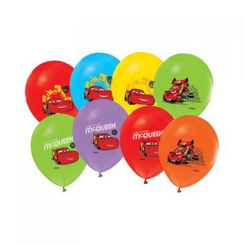 Cars Balon (100 Adet)Şimşek Mekkuin Balon Ürün ÖzellikleriÜrün Paketinde 100 Adet Şimşek Mekkuin Baskılı Balon bulunuyor.Lateks balonlar renkli baskı ve kalitelidir.Cars temalı balonlar karışık renkte gönderilir. Doğum Günü Odası veya parti süslemelerinde kullanılır.  Cars Parti Malzemelerinden da