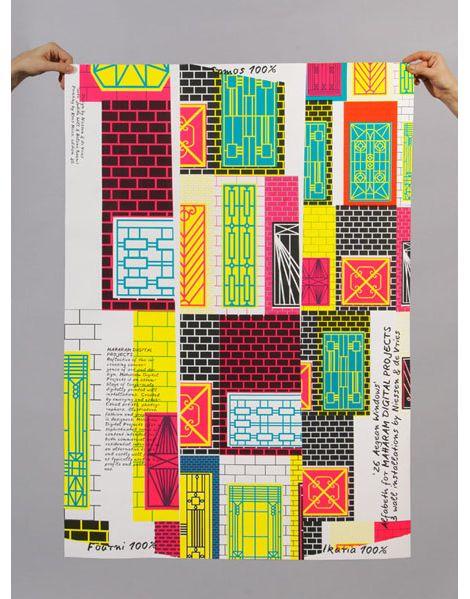poster by Niessen & de Vries, the Dutch graphic design duo of Richard Niessen & Esther de Vries http://www.niessendevries.nl/