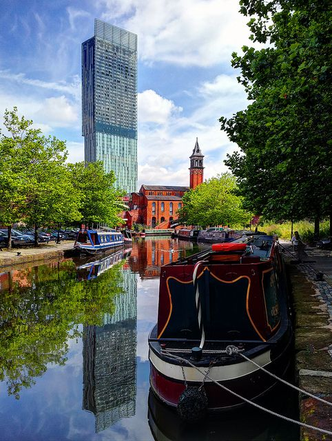 Beetham Tower & Castlefield, Manchester, England; photo by .Jason Connolly