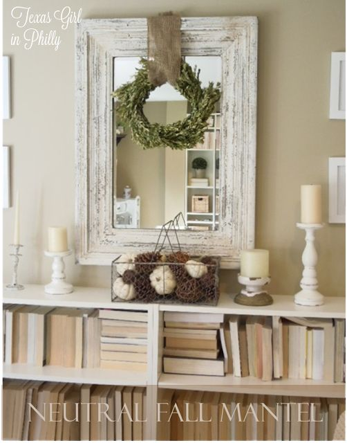 Neutral Fall Mantel - Texas Girl in Philly