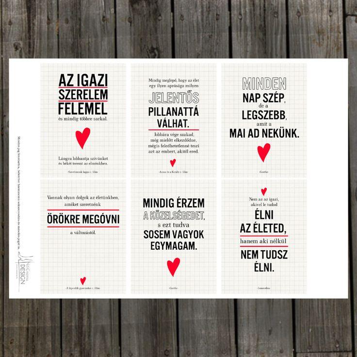 NőiCsizma | Szerelmes idézetek kártyacsomag