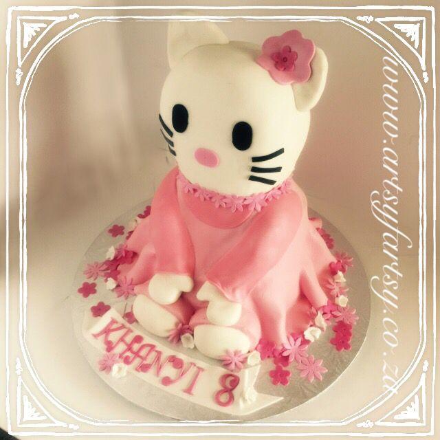 Hello Kitty 3D Cake #hellokittycake