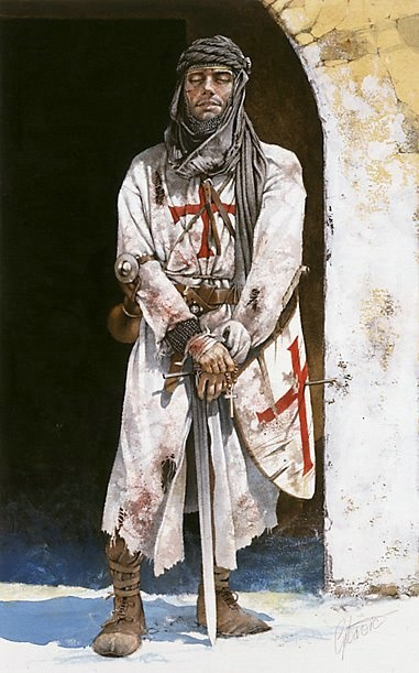 Knights Templar:  A #Knight #Templar.  I have a plastic figurine of this soldier!