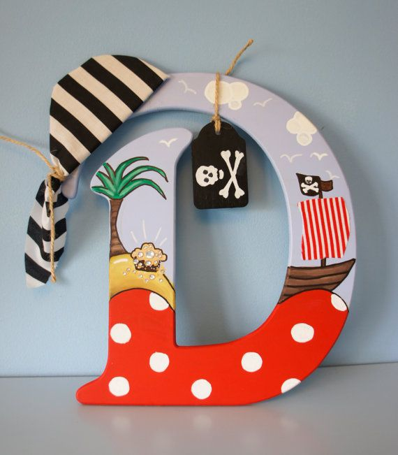 Pirate Letter / Door sign / Pirate themed by DinkyDrewDesigns, £19.99