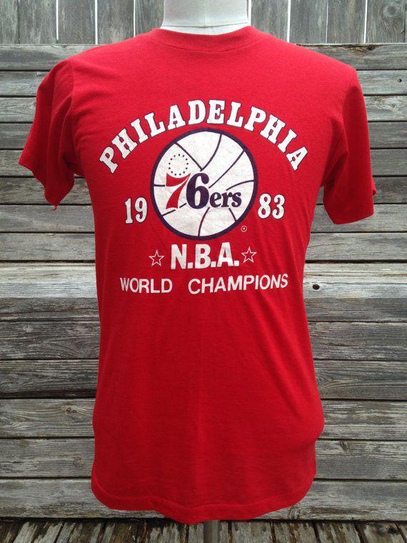 Vintage 1983 PHILADELPHIA 76ers NBA Champions T Shirt by