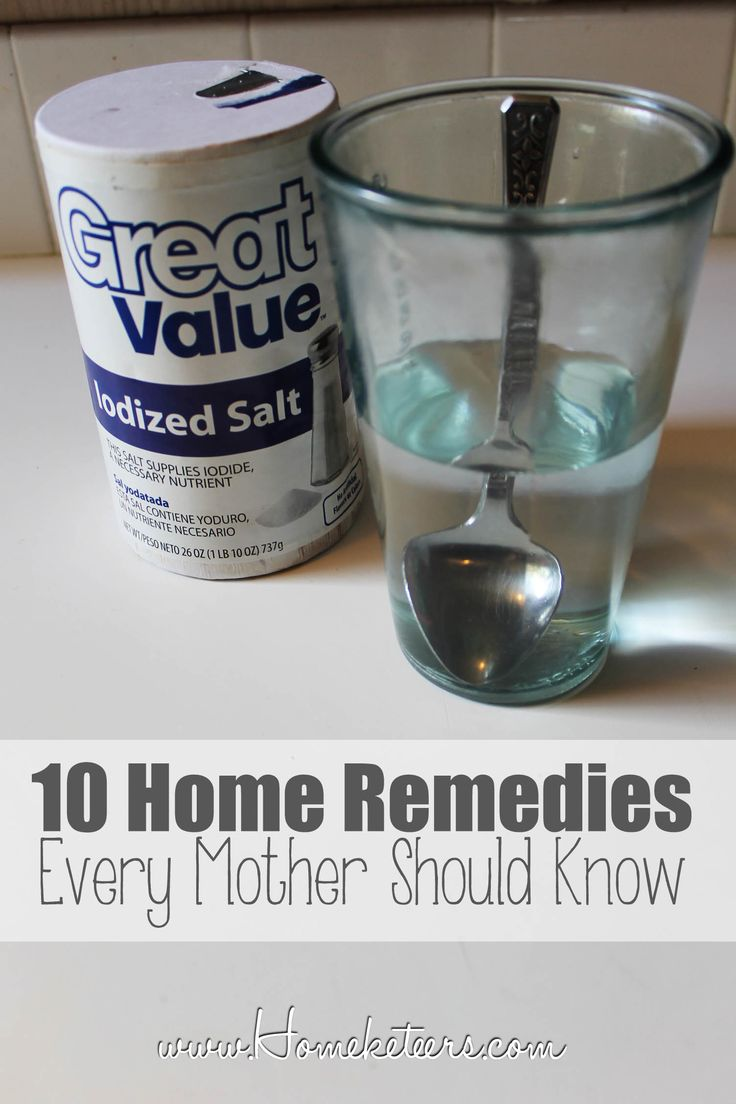 10 Home Remedies Every Parent Should Know - my dad was the person I went to for stuff like this and he had two main cures for 80%  of them: put some ointment on it and gargle with warm salt water.