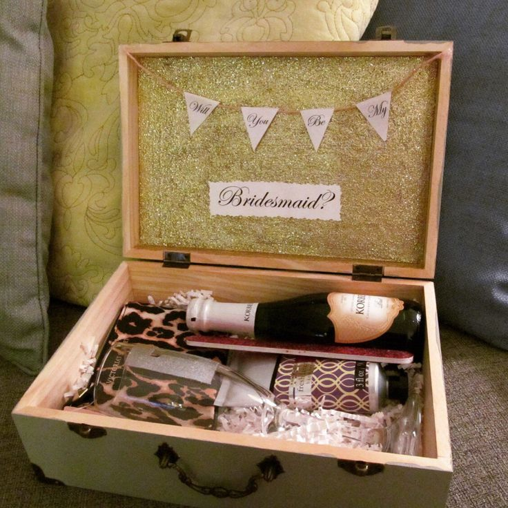 Will You Be My Bridesmaid Box Gift Wedding Party Engagement