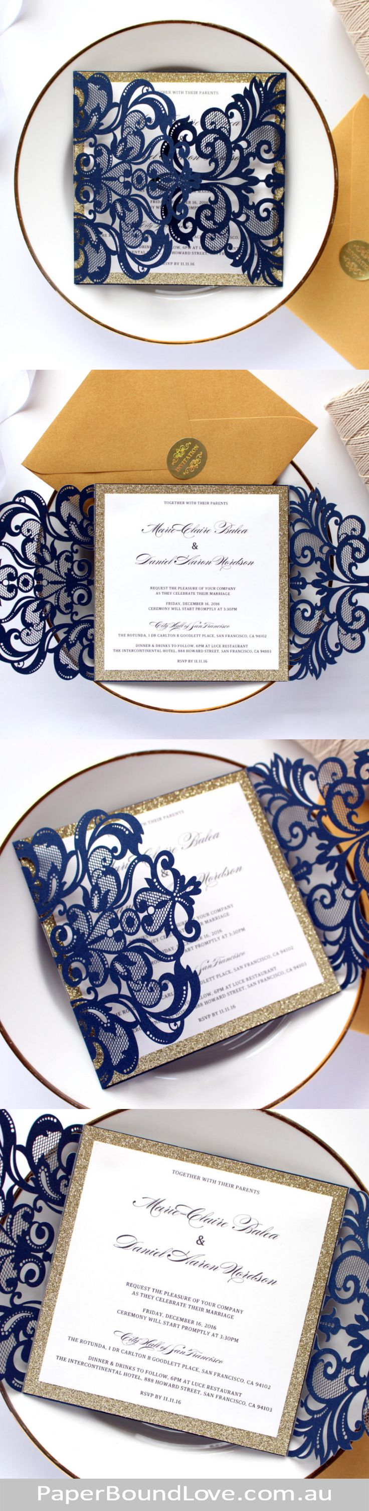 95 best Wedding Luxury Invitations images on Pinterest