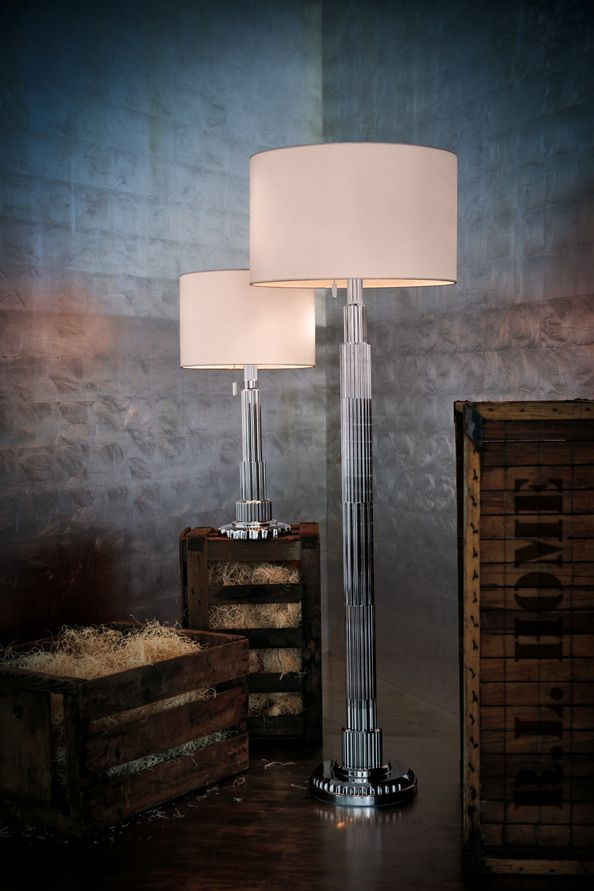 Deco Inspired Table And Floor Lamp, The Briggs Series From Ralph Lauren Home  In