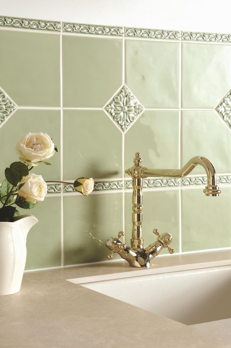 19 best artisan tiles images on pinterest tiles company hand soft sophisticated orford green makes the perfect splashback add some decorative knightsbridge drop in dailygadgetfo Gallery