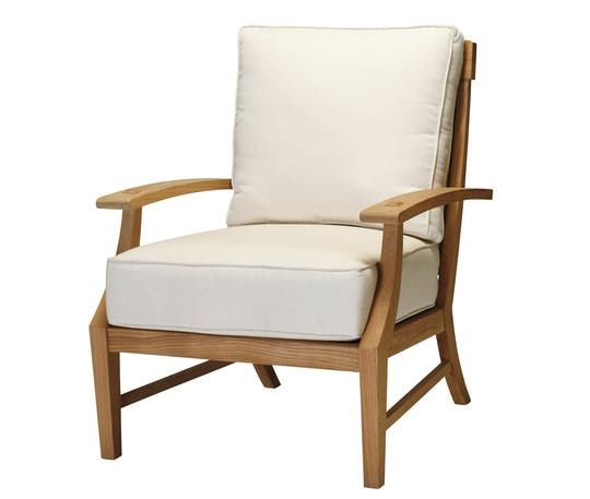 Croquet Teak Lounge Chair  Contemporary, Transitional, Upholstery  Fabric, Wood, Lounge Chair by Summer Classics