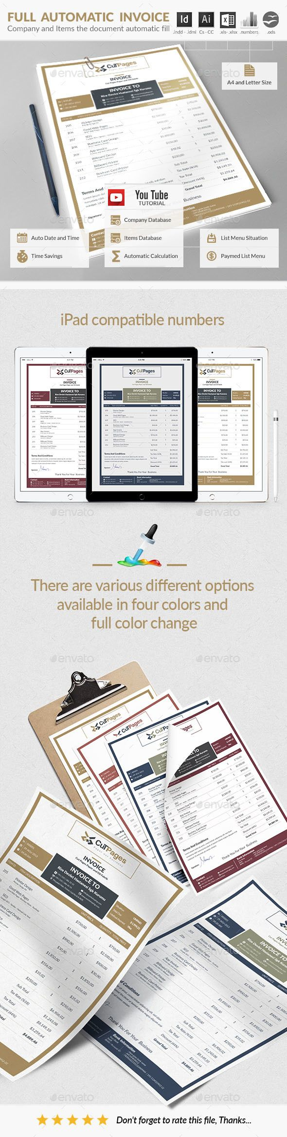 Invoice Design Template - Proposals & Invoices Template InDesign INDD, AI Illustraor. Download here: http://graphicriver.net/item/invoice/16896092?s_rank=63&ref=yinkira
