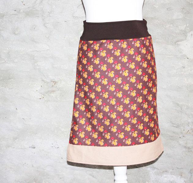 brauner CORDROCK ROCK skirt for autumn diy sewing skirt Eichhörnchen Hüftrock beige von Handmade Erzgebirge auf DaWanda.com