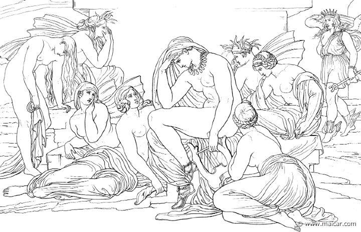 Iris va da Teti e dalle Nereidi (Hom.Il.24.85). Bonaventura Genelli (1798 – 1868)