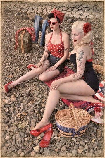 Rockabilly gals re-pinned by http://thepinuppodcast.com to help make the pinup community a little bit better.