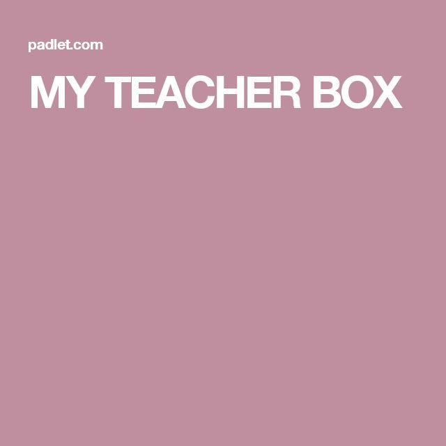 MY TEACHER BOX