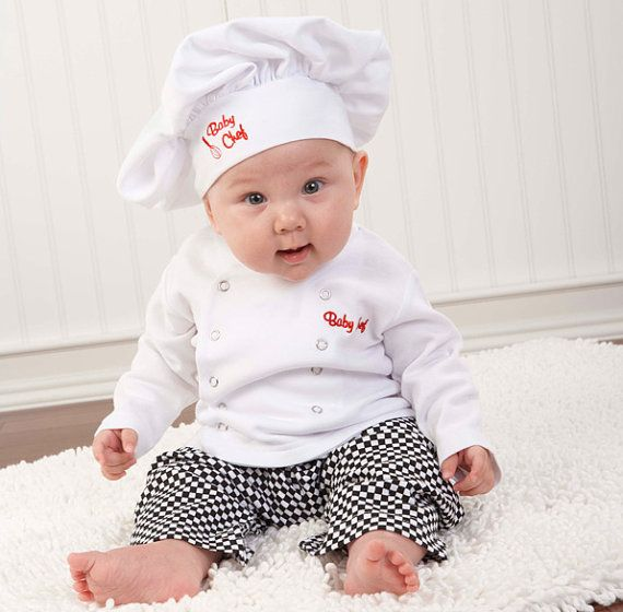 Personalized Baby Chef Outfit / Baby Chef Halloween Costume by LEmbroideryAndDesign on Etsy