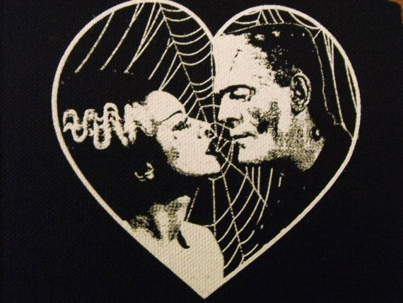 Hey, I found this really awesome Etsy listing at http://www.etsy.com/listing/154499456/frankenstein-and-bride-patch-goth-horror