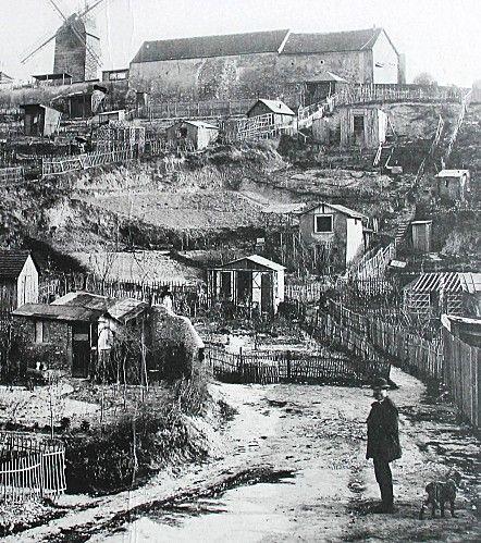 Le maquis de Montmartre à Paris, début 20ème siècle.