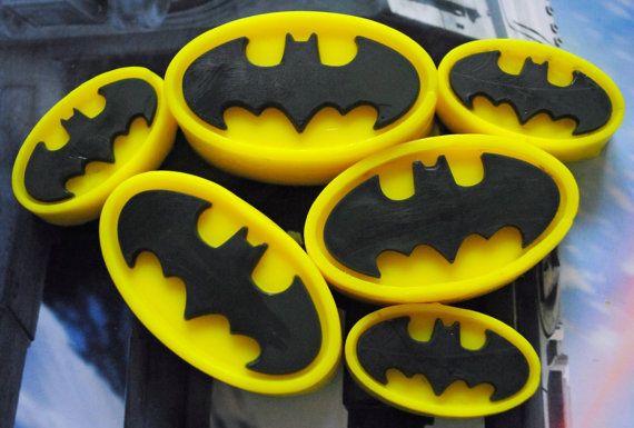 Batman Type Soaps x 7 by NerdySoap on Etsy
