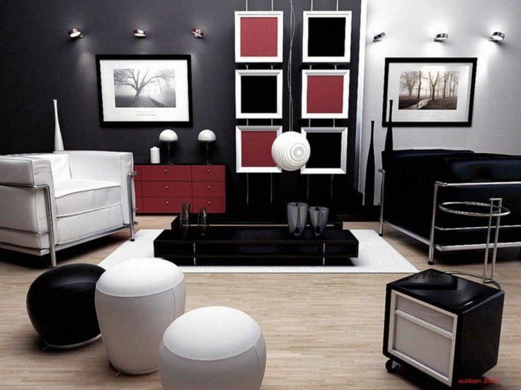 1362 Best Wandgestaltung - Tapeten - Fototapeten - Wandtattoo ... Wohnzimmer Ideen Schwarz Weis