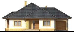 DOM.PL™ - Projekt domu ARN SZAFRAN G1 CE - DOM RS1-40 - gotowy koszt budowy