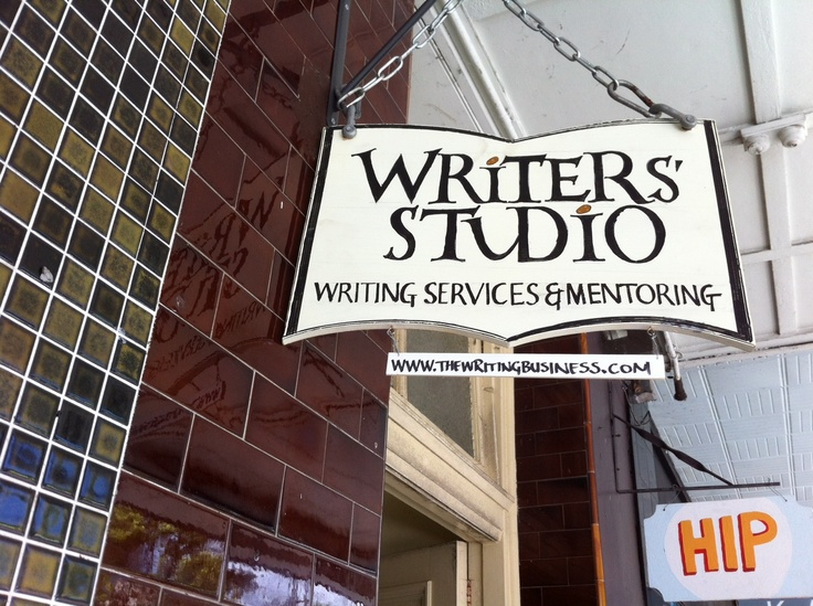 Our first signage for studio. Our neighbours are the Hip Pocket Bookstore  www.thewritingbusiness.com