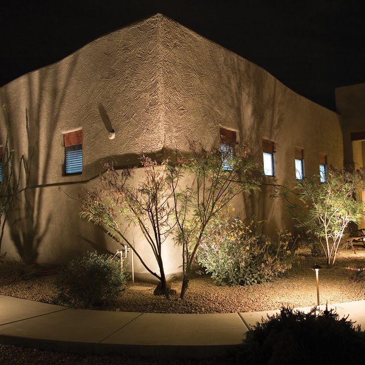 Stephen parrott photo of adobe style house cast lighting