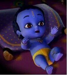Little baby cute Krishna