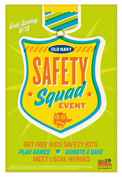 Free Old Navy Kids' Safety Event.  See more at ourfrugalfamily.net