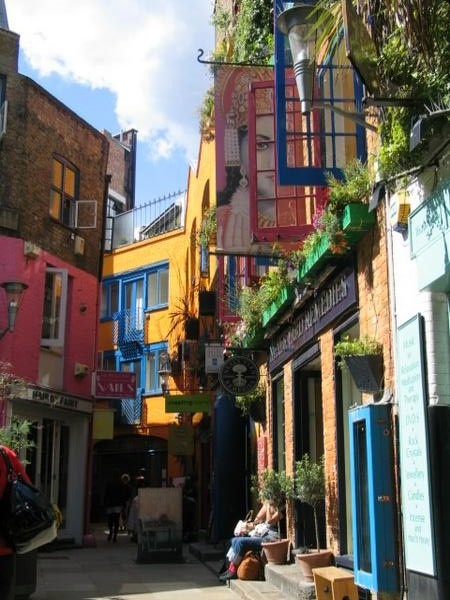 downtown london - colorful