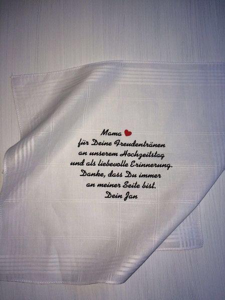Gastgeschenke - Taschentuch Hochzeit Freudentränen - ein Designerstück von thoga-kreativ bei DaWanda