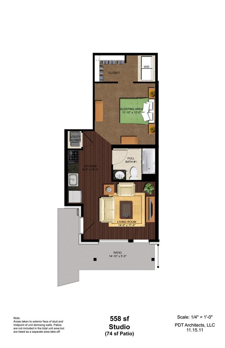 College Studio Apartment Design Pinterest