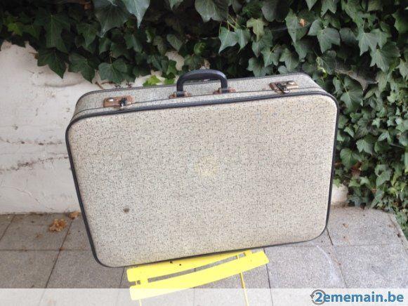 Accessoire auto d'époque, rare : valise trapézoïdale - A vendre