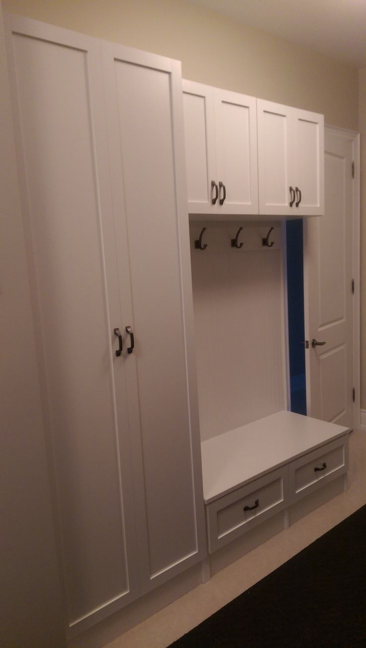 Custom closet in an entry hallway