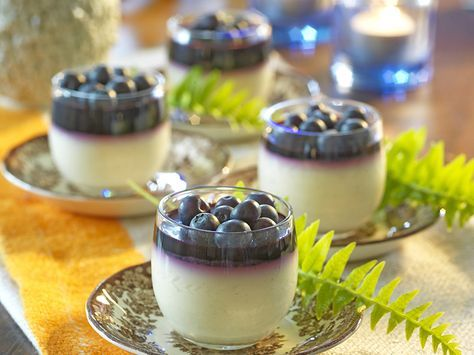 Vaniljpannacotta med blåbär