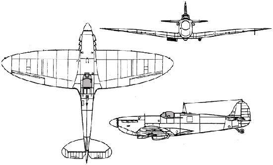 Supermarine Spitfire Powerplant One 1 030 Hp Rolls Royce