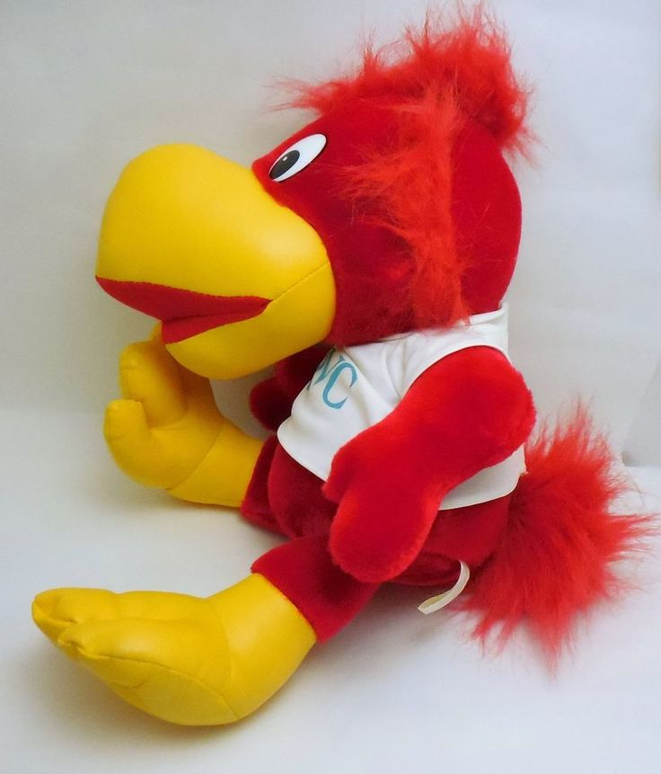 Vintage 1987 QVC Network Q Bird Mascot, plush stuffed animal, vinyl feet & beak #Commonwealth
