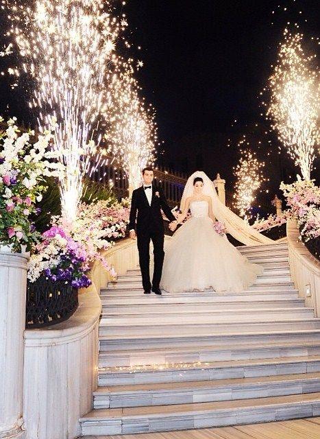 Guests at this @Mandy Dewey Seasons Hotel Istanbul at the Bosphorus wedding definitely felt the fireworks.