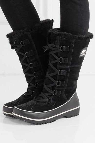 Sorel | Tivoli High II waterproof suede and leather boots | NET-A-PORTER.COM